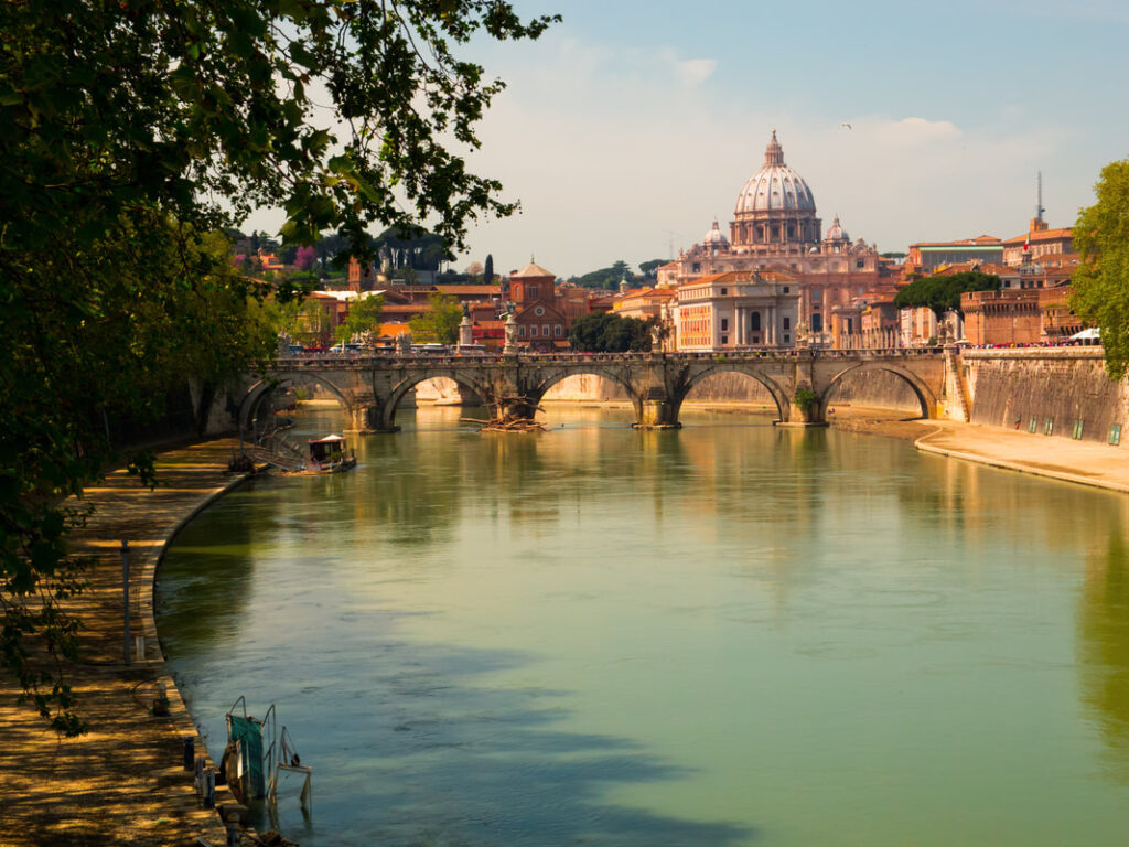 Rome riverside with Castel Sant'Angelo   Become an Italian Resident