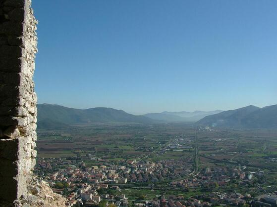 Panorama of Molise region from a high point of view