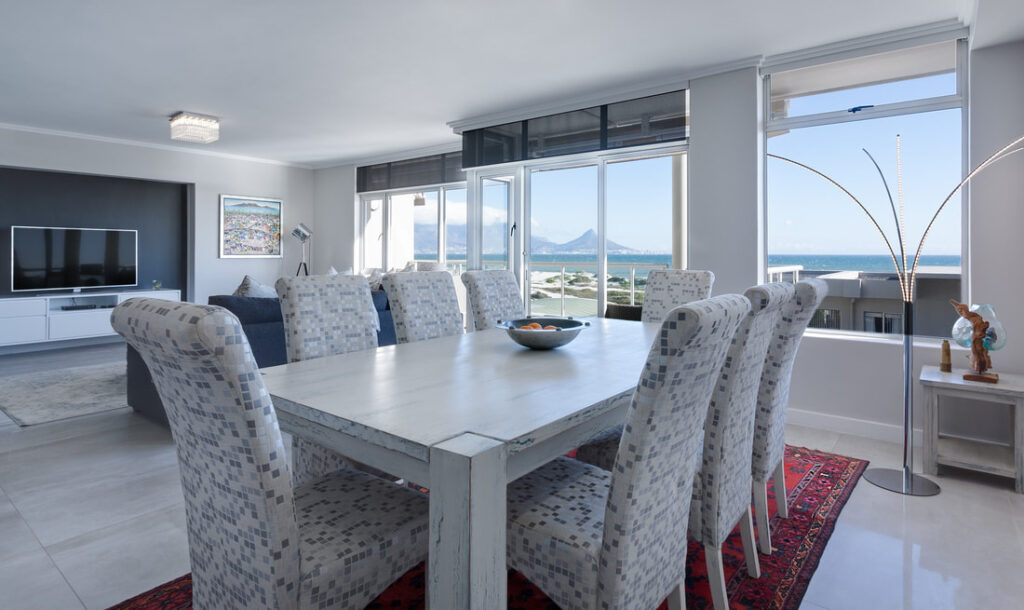 Short term rental business in Italy   Elegant living room with sea's view